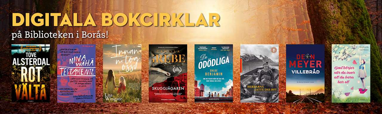 Digitala bokcirklar på Biblioteken i Borås!