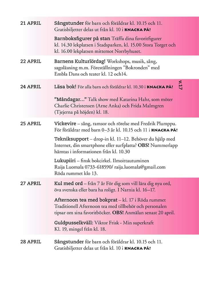 Månadsblad April 2017